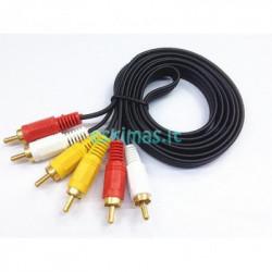 3RCA - 3RCA kabelis / laidas - tulpės 3m