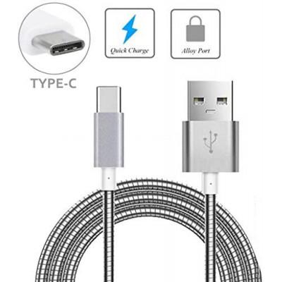 Metalinis USB Type C laidas / įpatingos kokybės kabelis