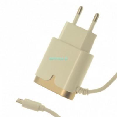 Įkroviklis Micro USB su papildoma usb jungtimi 2.1A