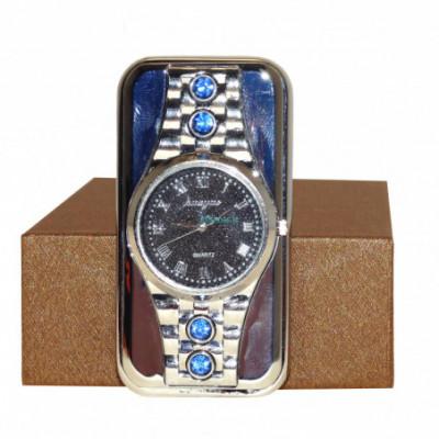 USB žiebtuvėlis Kvadratinis laikrodis Silver