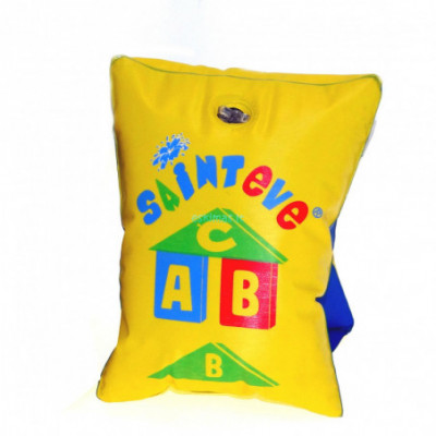 Pripučiamos rankovės ABC geltona plaukiojimui vaikams