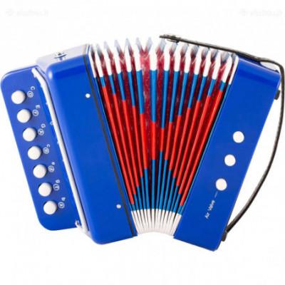 Žaislinė armonikėlė vaikams mėlyna