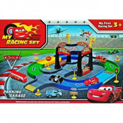 My racing set vidutinis garažas / cars 2 [analogas]