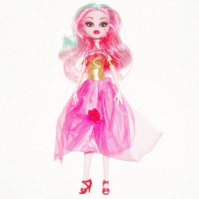 Monster High lėlė rožine suknele