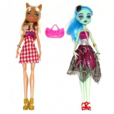 Monster High 2 lėlių rinkinys Vilkė su Zombe