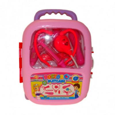 Daktaro lagaminas rožinis