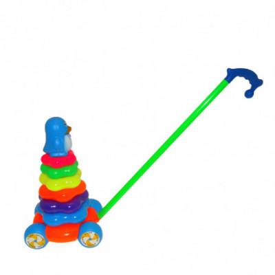 Plastikinis stumdomas žaislas vaikams - Pingvinas