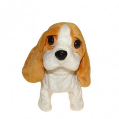Žaislinis vaikštantis šuniukas su pavadėliu