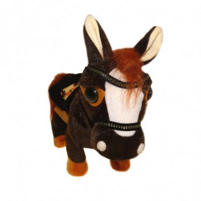 Žaislinis vaikštantis arkliukas su pavadėliu