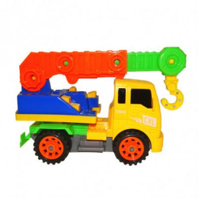 Žaislinė išardoma mašina-keltuvas su kabliu
