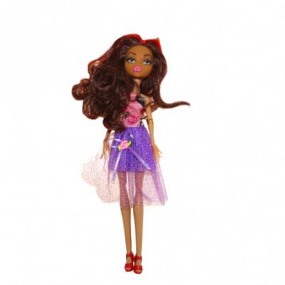 Monster High lėlė violetine suknele