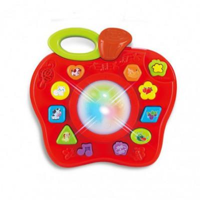 Žaislinis obuolys-būgnas mažiems vaikams