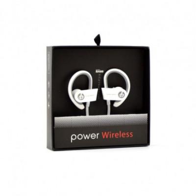 Bluetooth ausinukai Power Wireless balti