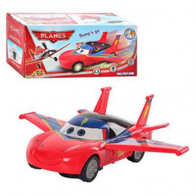 Maža Planes mašinėlė su sparnais raudona