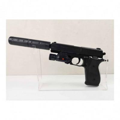 Pistoletas su duslintuvu ir žibintuvėliu (Airsoft)
