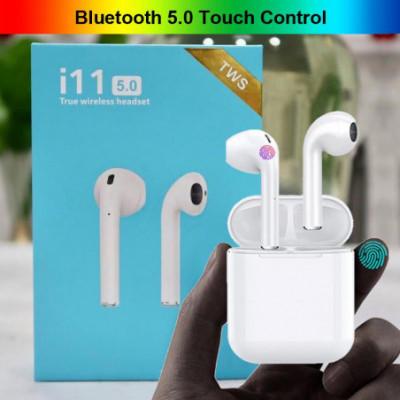 Airpods stiliaus, bevielės ausinės su Touch control funkcija