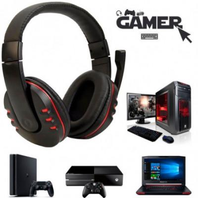 Kompiuterinės žaidimų ausinės su mikrofonų