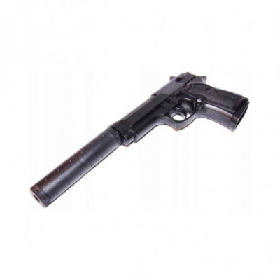Beretta - Airsoft metalinis pistoletas su duslintuvu