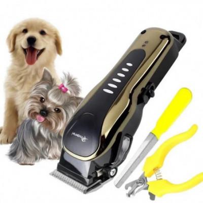 Įkraunama gyvūnų plaukų kirpimo mašinėlė