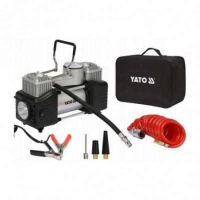 Automobilinis kompresorius 2 cilindrai su Led lempa 12V / 250W