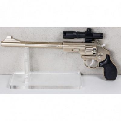 Revolveris šaudantis pistonais sidabrinis