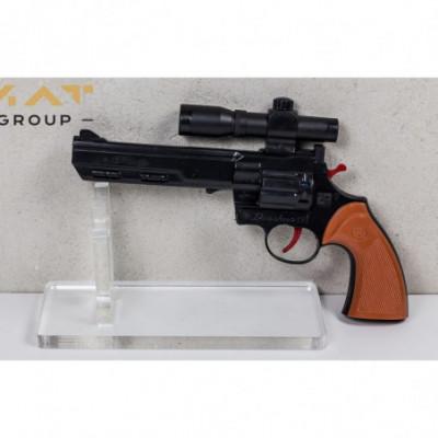 Revolveris šaudantis pistonais juodas