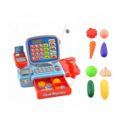 Žaislinė parduotuvės kasa vaikams su priedais