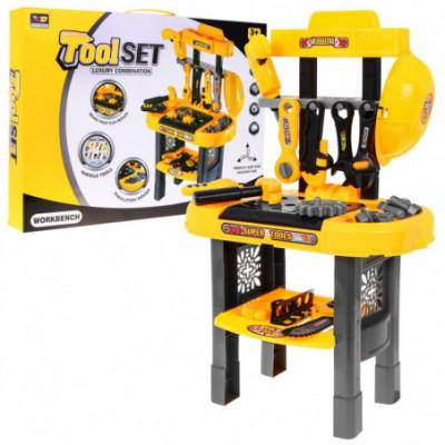 Žaislinės dirbtuvės, įrankių stalas mažiesiems meistrams