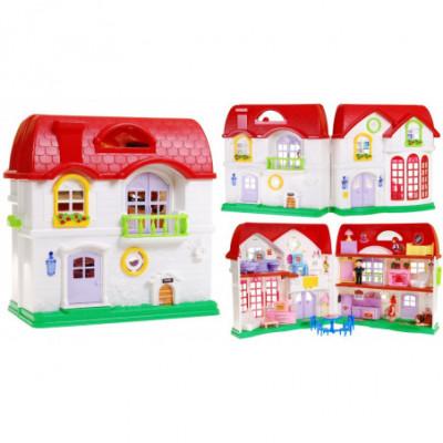 Didelis lėlių namas su baldais ir priedais
