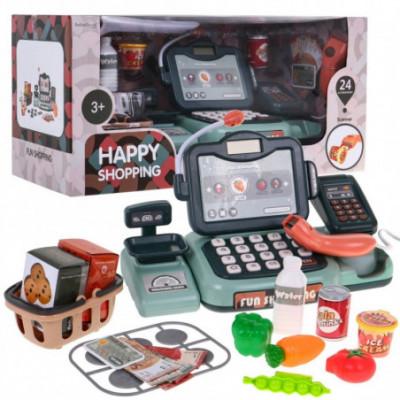 Vaikiškas kasos aparatas su barkodų ir kortelių skaitytuvu
