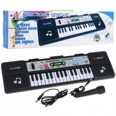 Vaikiškas sintezatorius su mikrofonu
