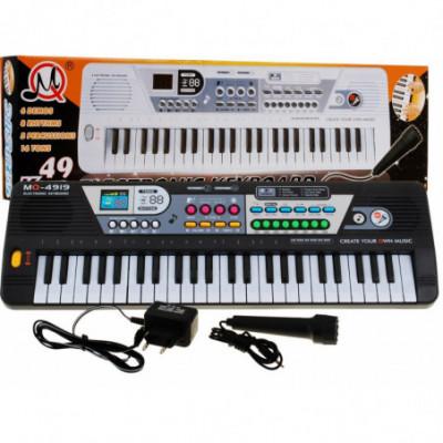 49-klavišų sintezatorius + mikrofonas
