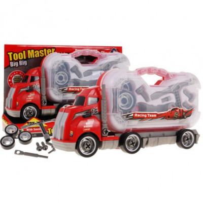 Išrenkamas sunkvežimis - lagaminas su atsuktuvais