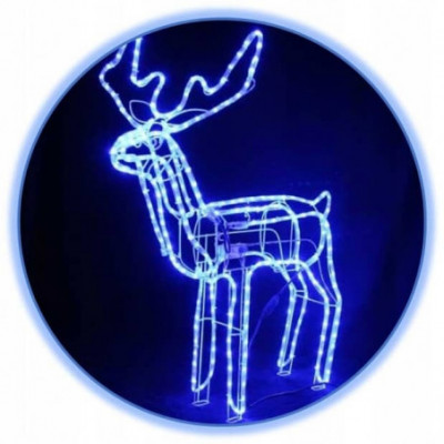 LED dekoracija 3D šviečiantis elnias / judantis