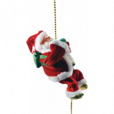 Muzikalus virve lipantis Kalėdų senis, reaguoja i plojimą