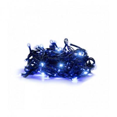 100 LED Kalėdinė lempučių girlianda 9,5m., mėlyna šviesa