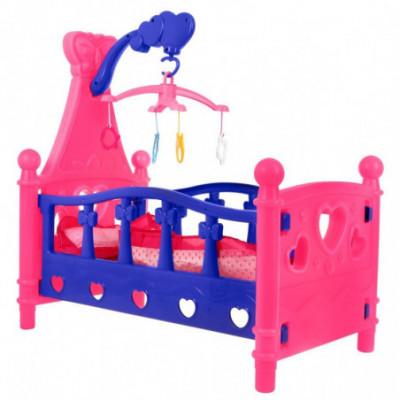 Vaikiška lovytė lėlėms su grojančia karusėle