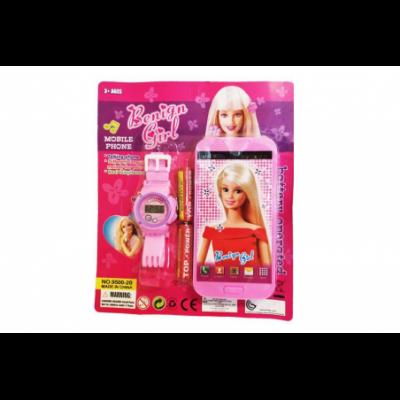 Rinkinys mergaitėms - išmanusis telefonas + laikrodis