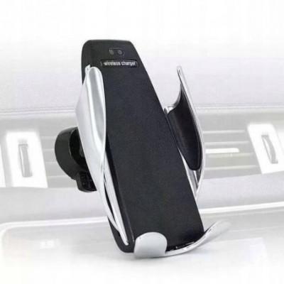 Stilingas automobilinis telefono laikiklis su bevieliu krovimu