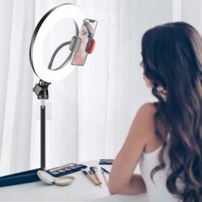 Žiedinė LED makiažo - fotografavimo lempa su stovu 30cm