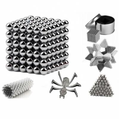 Neokubas, Magnastix, magnetiniai rutuliukai Sidabriniai! 5mm – 216vnt