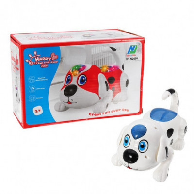 Žaislinis besivartantis šuniukas 2 spalvų