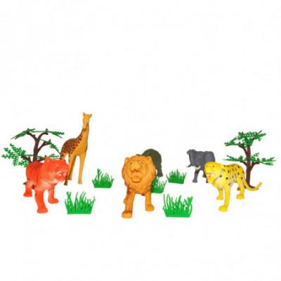 Plastikinių gyvūnų komplektas [Afrika]
