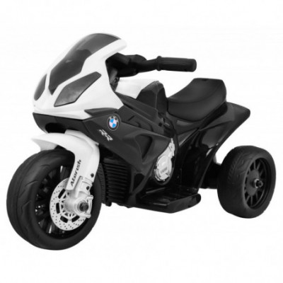 Elektrinis vaikiškas triratis motociklas BMW S1000 Black