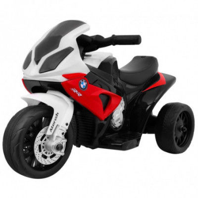 Elektrinis vaikiškas triratis motociklas BMW S1000 Red
