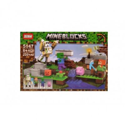 Mineblocks Statybos komanda - Lego Minecraft analogas 220 detalių