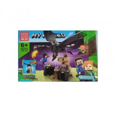 Juodasis drakonas - Lego Minecraft analogas 290 detalių