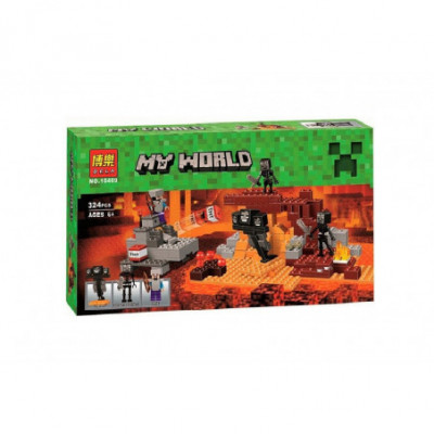 Skeletų tvirtovė - Lego Minecraft analogas 324 detalės