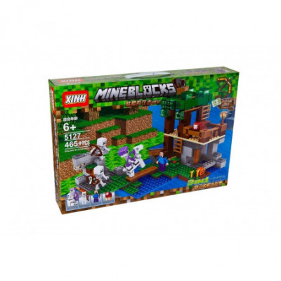 Skeletų apgultis - Tvirtovė - Lego Minecraft analogas 465 detalės