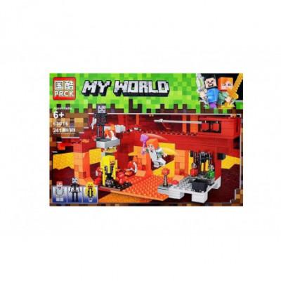 Žmonės prieš skeletus - Lego Minecraft analogas 241 detalė